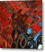 Abstract-infinity Two Metal Print by Patricia Motley