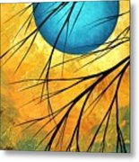 Abstract Landscape Art Passing Beauty 1 Of 5 Metal Print by Megan Duncanson
