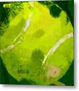 Abstract Tennis Ball Metal Print by David G Paul
