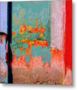 Abstract Wall By Michael Fitzpatrick Metal Print by Mexicolors Art Photography