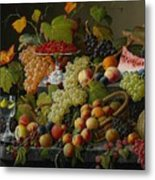 Abundant Fruit Metal Print by Severin Roesen