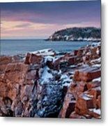 Acadian Cliffs Winter Sunrise 1 Metal Print by Susan Cole Kelly