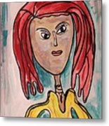 Addie- Noble And Kind Metal Print by Mary Carol Williams