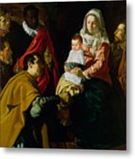 Adoration Of The Kings Metal Print by Diego rodriguez de silva y Velazquez