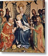 Adoration Of The Magi Altarpiece Metal Print by Stephan Lochner