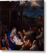 Adoration Of The Shepherds Metal Print by Guido Reni