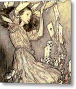 Adventures In Wonderland Metal Print by Arthur Rackham