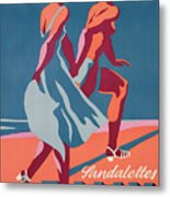 Advertisement For Bally Sandals Metal Print by Druck Gebr