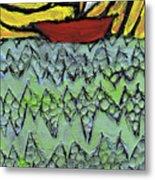 Afloat On The Bubbling Sea Metal Print by Wayne Potrafka