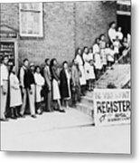 African American Men And Women Wait Metal Print by Everett