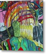 African Roots Metal Print by Peggy  Blood