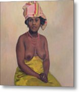 African Woman Metal Print by Felix Edouard Vallotton