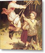 After School Metal Print by Frederick Morgan