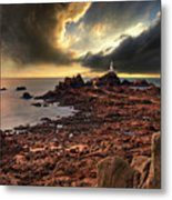 after the storm at La Corbiere Metal Print by Meirion Matthias