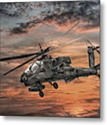 Ah-64 Apache Attack Helicopter Metal Print by Randy Steele