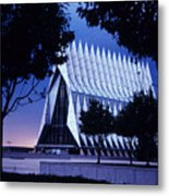 Air Force The Cadet Chapel Metal Print by GerMaine Photography