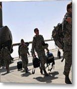 Airmen Arrive In Iraq In Support Metal Print by Stocktrek Images