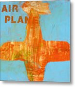 Airplane Metal Print by Laurie Breen