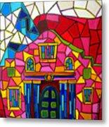 Alamo Mosaic Two Metal Print by Patti Schermerhorn