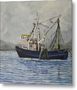 Alaskan Fishing Metal Print by Reb Frost
