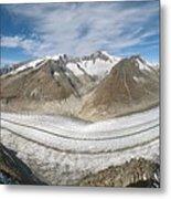Aletsch Glacier, Switzerland Metal Print by Dr Juerg Alean