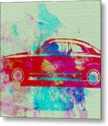 Alfa Romeo  Watercolor 2 Metal Print by Naxart Studio