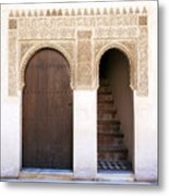 Alhambra Door And Stairs Metal Print by Jane Rix