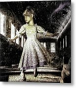 Alice And The Rabbit Metal Print by Bob Orsillo