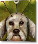 Alien Dog Metal Print by Leah Saulnier The Painting Maniac