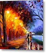 Alley By The Lake Metal Print by Leonid Afremov