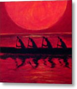Almost Across The Line Metal Print by Angela Treat Lyon