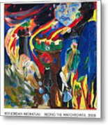 Along The Watchtower Metal Print by Red Jordan Arobateau