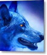 Alpha Wolf Metal Print by Mal Bray