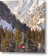 Alta Ski Resort Wasatch Mts Utah Metal Print by Utah Images