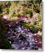 Altered States At The Park Metal Print by David Lane