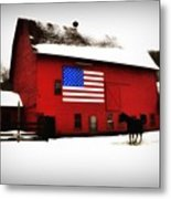 American Barn Metal Print by Bill Cannon