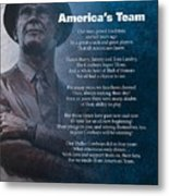 America's Team Poetry Art Metal Print by Stanley Mathis