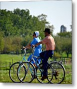 Amish Bike Ride Metal Print by Jeffrey Platt