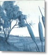 Among The Cattails... No. Four Metal Print by Robert Meszaros
