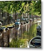 Amsterdam Canal Metal Print by Joan Carroll