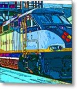 Amtrak Locomotive Study 2 Metal Print by Samuel Sheats