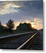 Amtrak Railroad System Metal Print by Carolyn Marshall