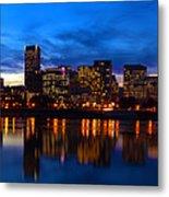 An Evening In Portland Metal Print by Brian Bonham