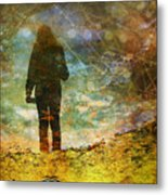 And Then He Turned Her World Upside Down Metal Print by Tara Turner
