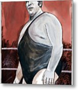 Andre The Giant Metal Print by Dave Olsen