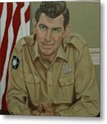 Andy Griffith Metal Print by Tresa Crain