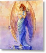 Angel Of Truth And Illusion Metal Print by Janet Chui
