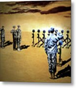 Angels Of The Sand Metal Print by Todd Krasovetz