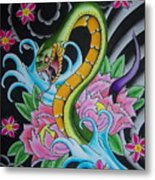 Angry Snake Metal Print by Kev G
