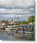 Annapolis Maryland City Dock Ego Alley Metal Print by Brendan Reals